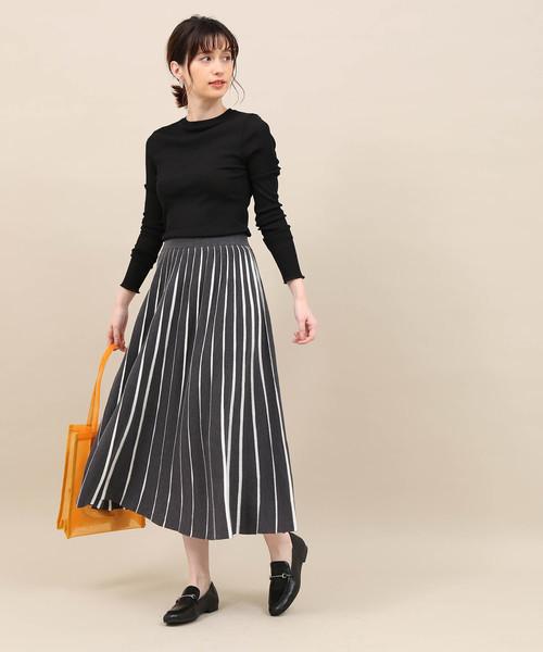 ニットハリヌキプリーツスカート