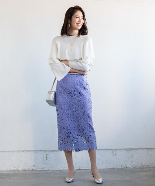 [Loungedress] レースタイトスカート