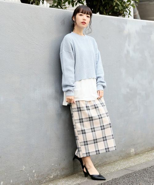 ベルトツキカラータイトスカート