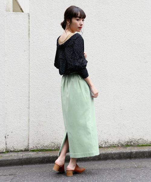 [LOWRYS FARM] ベルトツキカラータイトスカート 825541