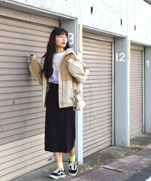 [w closet] ポリナイロンマウンテンパーカー