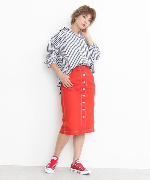 [FREE'S MART] ◆フロントボタンペンシルスカート