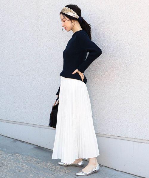 [SHIPS for women] Urvin:デニムプリーツスカート