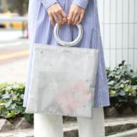 アクセントをプラス♡チュール・メッシュ素材のバッグ&シューズ