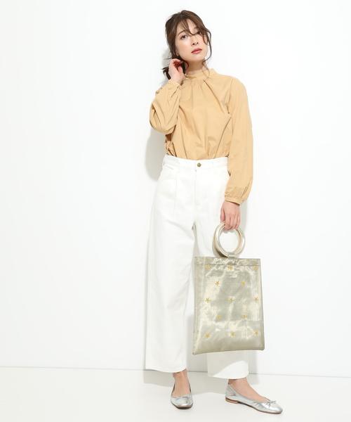 [ViS] 【WEB限定】【Casselini】チュールスター刺繍トートバッグ