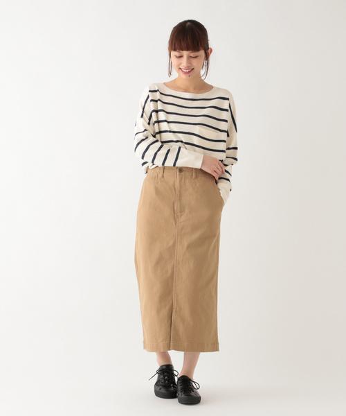 [studio CLIP] コットンカツラギナロースカート
