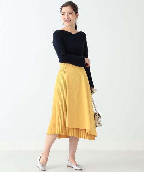 [BEAMS WOMEN] BEAMS LIGHTS / アシメ プリーツスカート