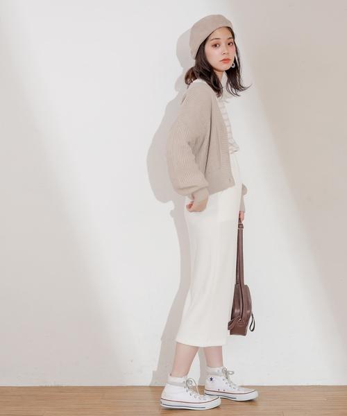 [natural couture] プチプラ畦カーディガン