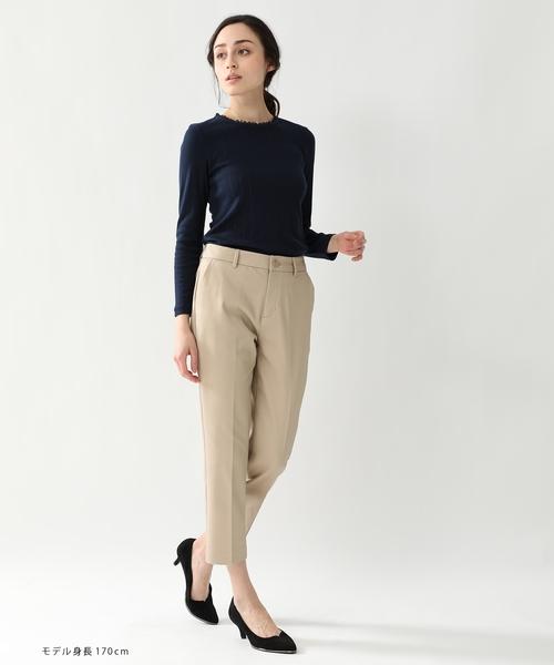 [Honeys] 衿レース使いTシャツ