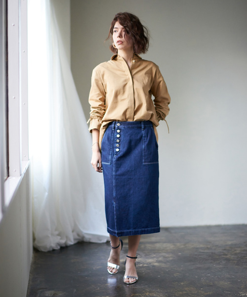 [COLLAGE GALLARDAGALANTE] 【EMMALIA】デニムタイトスカート