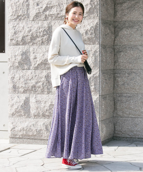 [URBAN RESEARCH] フローラルプリントスカート