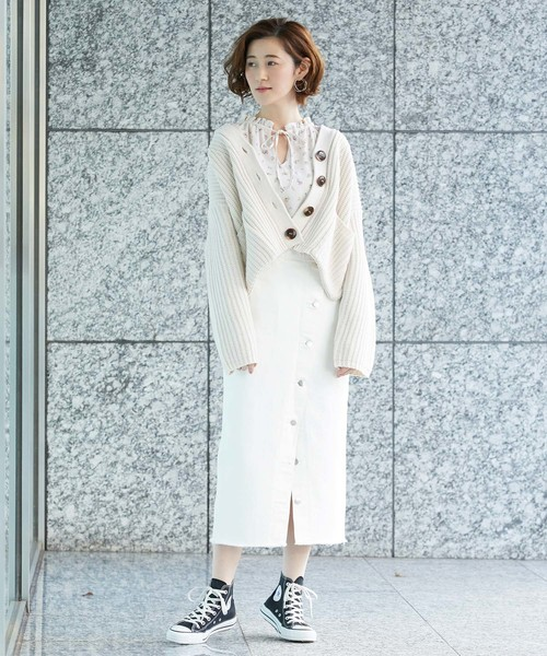 【Lee(リー)】ボタンスリットスカート