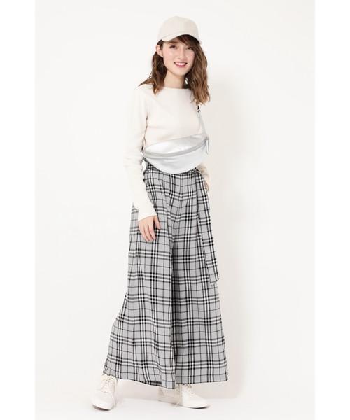 [ROSE BUD] ワッフルロングTシャツ
