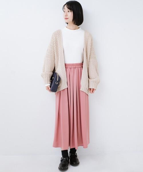 [haco!] きれいなお姉さんになれる気がするミモレ丈フレアースカート