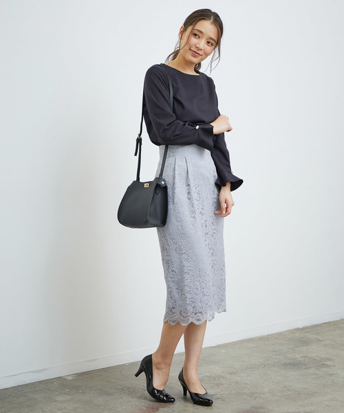 [ROPE' PICNIC] 【WEB限定】【セットアップ対応】レースアイラインスカート