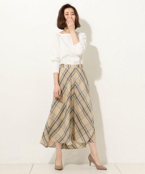 [RIVE DROITE] ライトリーチェックテールスカート