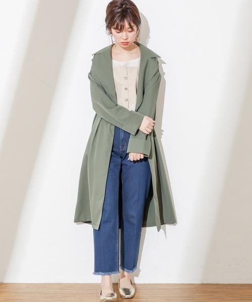 [natural couture] テーラードカラーロングコート