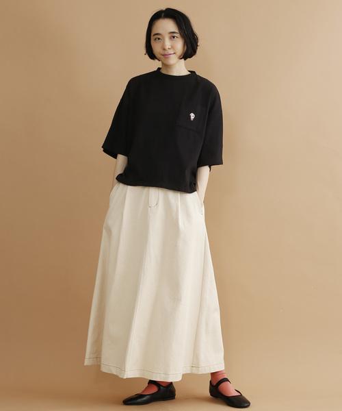 [merlot] PIG刺繍ビッグシルエットTシャツ2575
