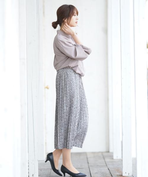 [rps] 小花プリントプリーツスカート