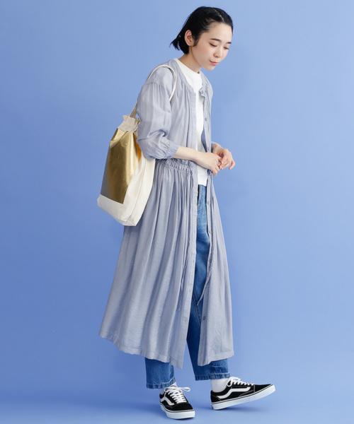 [merlot] スクエア箔プリント巾着トートバッグ3152