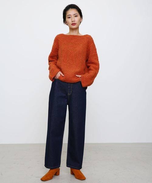 [BLACK BY MOUSSY] crochet knit tops