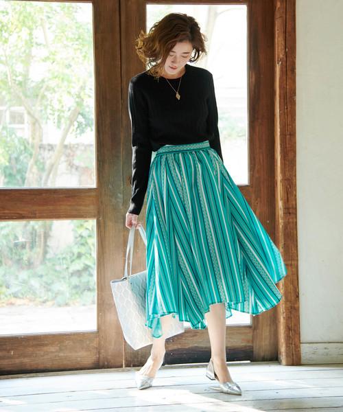 [ROPE' PICNIC] 【meiji THE Chocolate×ROPE' PICNIC】タックギャザースカート