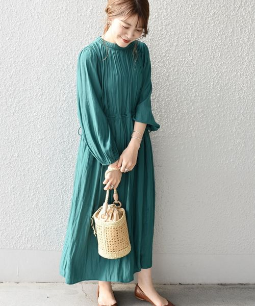 [SHIPS for women] カッセンギャザーワンピース◇