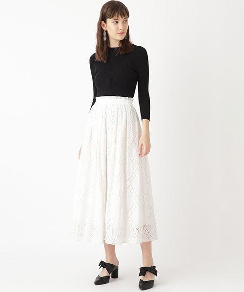 [JILLSTUART] ◆リミエンブロイダリーギャザースカート
