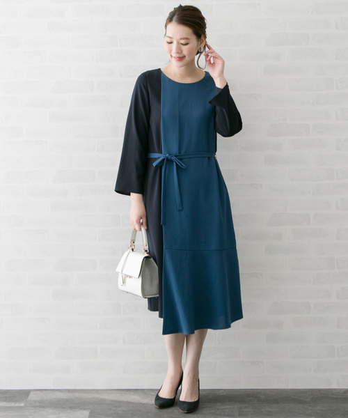 [URBAN RESEARCH ROSSO WOMEN] 配色レイヤードワンピース
