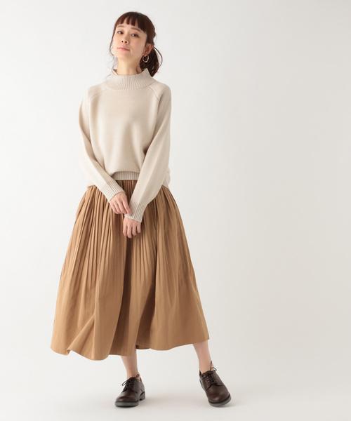 [studio CLIP] TCクロス消しプリーツロングスカート