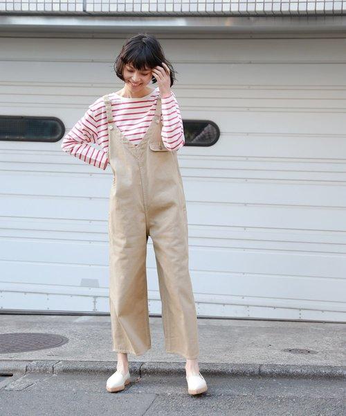 [LAKOLE] 【UVカット】2WAYバスクボーダーTシャツ