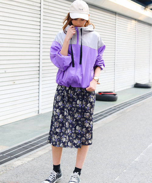 [Fashion Letter] バイカラーマウンテンパーカー長袖ブルゾン / 2019SS