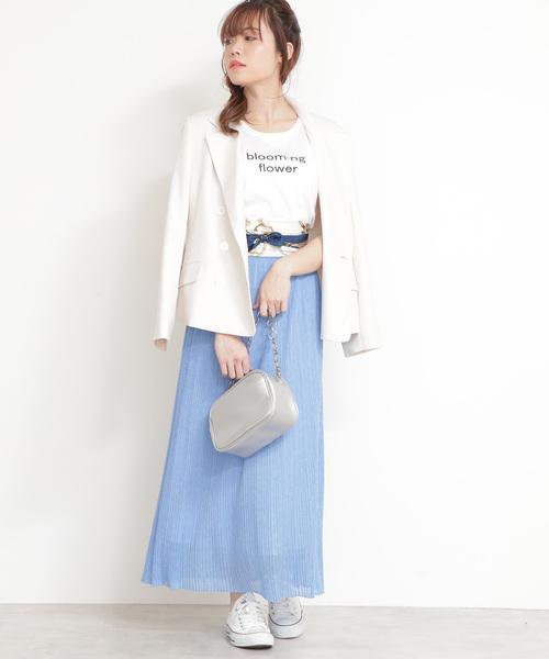 [PROPORTION BODY DRESSING] ミニプリーツシアーニットスカート