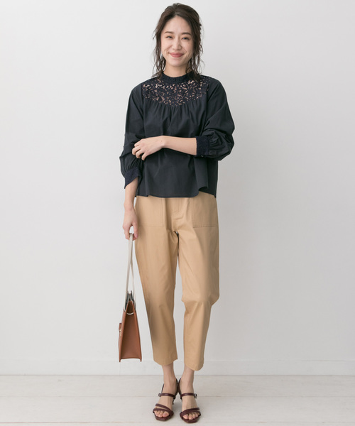 [URBAN RESEARCH ROSSO WOMEN] F by ROSSO レース切替ブラウス