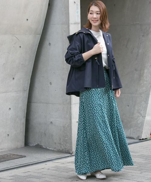 RESEARCH ROSSO WOMEN] 小花柄ロングスカート