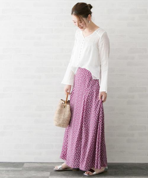 小花柄ロングスカート2