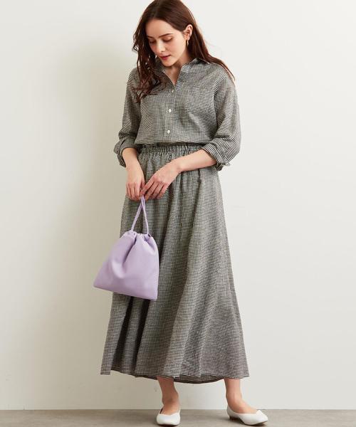[green label relaxing] [手洗い可能] CFC ハードマンズLI フレア スカート
