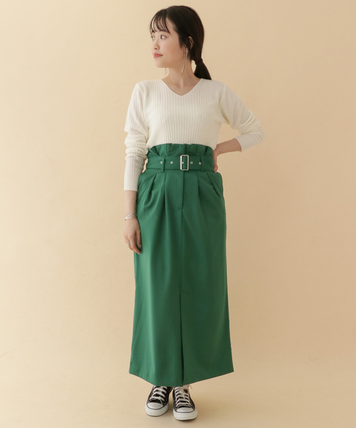 [ITEMS URBANRESEARCH] ベルトロングタイトスカート