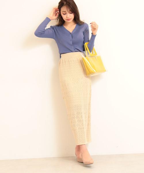 [N.(N. Natural Beauty Basic)] ◆レース柄ニットスカート