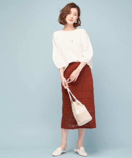 [COLLAGE GALLARDAGALANTE] クロシェット編みスカート