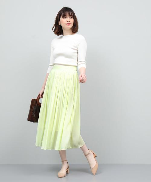 [ROPE'] エアフローギャザープリーツスカート