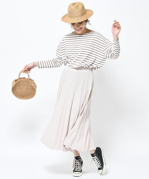 【WEB限定】ニットプリーツスカート【S COLLAGE】