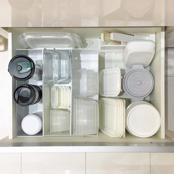 保存容器を入れる