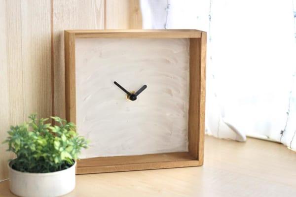 100均DIY キャンドゥ ダイソー 漆喰時計