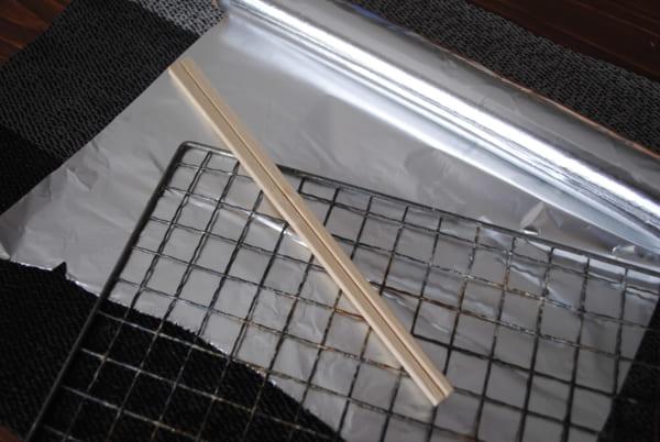 木炭の作り方②アルミホイルを使う