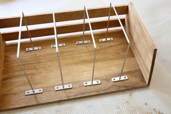古道具のような風合いのブックシェルフの作り方10