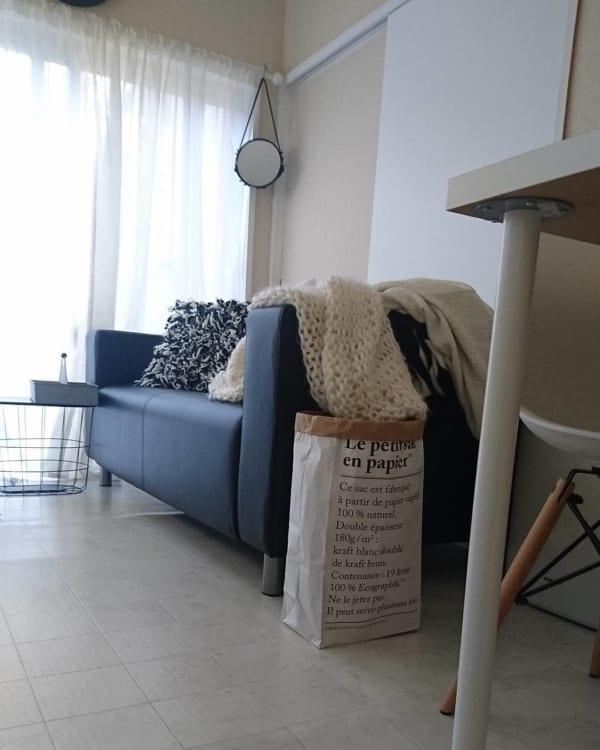 【IKEA】のソファ