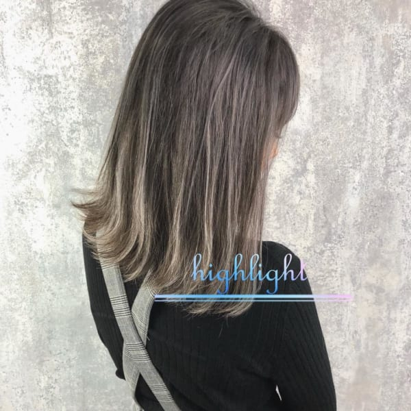 黒髪×ハイライト17