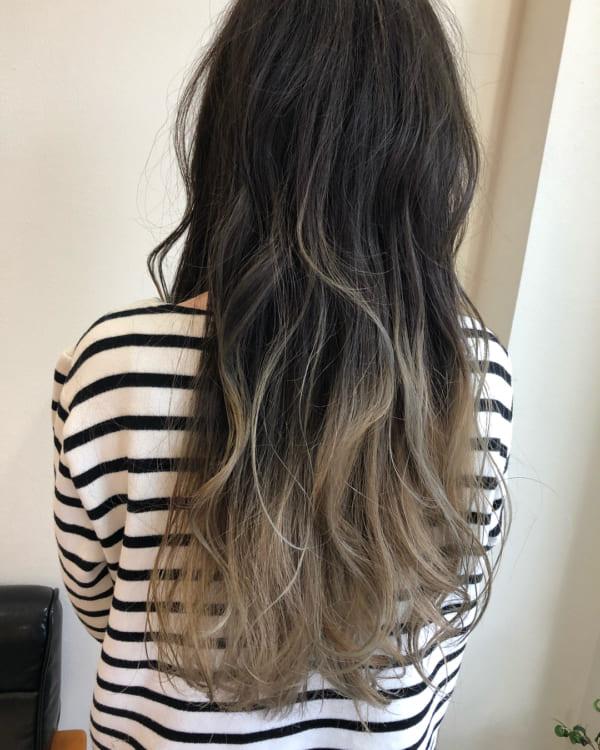 黒髪×ハイライト18