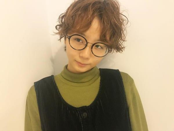 かっこいいジェンダーレスな髪型⑤パーマヘア3